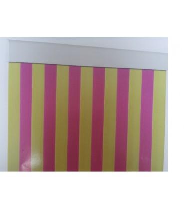 cortina cinta estriada transparente